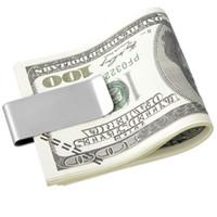 جديد جودة عالية الفولاذ المقاوم للصدأ النحاس المال كليب الأوراق النقدية كليب تذكرة حامل يمكن تخصيص الشعار على دفعات.