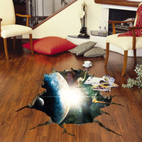 New Fashion Outer Space Planets 3D Wall Stickers Cosmic Gala...