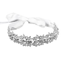 Bridal Handmade Luxury Rhinestone Wedding Party Hairband Hai...