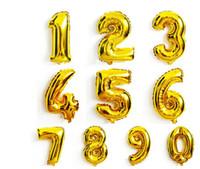 40 дюймов Золото Серебро Номер Фольгированных Шаров Цифровых воздушных Баллонов С Днем Рождения Свадебные Украшения Письмо шар Событие Праздничные Атрибуты