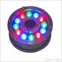 Peyzaj LED ışıkları Açık ışıkları kullanarak LED sualtı RGB çeşme sualtı ışık paslanmaz konut yeraltı lambası IP68