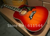 Cherry Burst Hummingbird Acoustic Guitar High Quality Best S...
