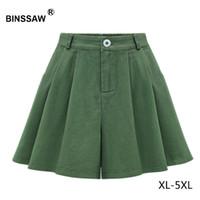 فتاة هاي زائد حجم النساء السراويل السامي مخصر عارضة السراويل الخضراء التنانير واسعة الساق الدينيم حجم كبير 4xl 5xl