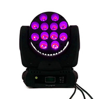 SHEHDS LED Beam Moving Head Light 12x12w rgbw 4in1 Quad LED Lamp Advanced 9/16 DMX Channels para Professional Stage DJ Disco