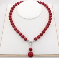 Hand verknotet reizend 7 Arten 12mm weiß / schwarz / gelb / lila / rot / pink / grau natürliche Shell-Perle Halskette 45cm