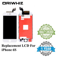 ORIWHIZ Prueba 100% para iPhone 6s Pantalla 3D Pantalla LCD táctil Reemplazo Reparación Pantalla 4.7 pulgadas pantalla con marco blanco negro