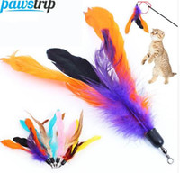 10pcs lot Colorful Cat Toy Feather Replacement For Interacti...