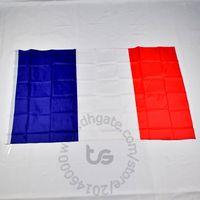 Franse Frankrijk Nationale vlag gratis verzending 3x5 ft / 90 * 150cm opknoping nationale vlag Frankrijk woondecoratie vlag banner
