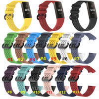 Colorful Band for Fitbit Charge 3 Sport Silicone Band wrist ...