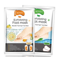 Lemon Aloe Exfoliating Foot Mask Silicone Heel Cover Socks P...