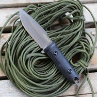Outdoor tactical special fixed blade knife self- defense with...