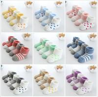 الجوارب طفل حديثي الولادة الشتاء القطن سماكة للجنسين جوارب قصيرة فتاة وفتى 0-6 أشهر الرضع الجوارب