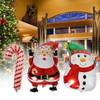 Weihnachtsballons 45 * 63 cm Indoor Outdoor Navidad Dekoration Weihnachtsmann Schneemann Elch Helium Ballons Festliche Partei Liefert