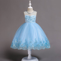 2018 Baby Girls Embroidery And Sequined Dress Kids Princess ...
