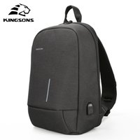 Kingsons 2018 Nuevos Bolsos de Hombro Hombres Mujeres Laptop Messenger Anti-robo Bolsa de Cofre de Carga USB 13.3 pulgadas Laptop Bag para Macbook 13