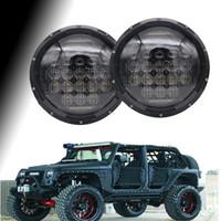Nuovo kit di fari a LED da 5 pollici da 7 pollici 75 W H4 Hi / low faro automatico con DRL per Jeep Wrangler JK TJ Hummer Defender