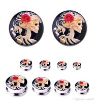 2018 NEW Stainless Steel Ghosts bride Ear Plugs Tunnels skul...