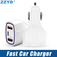 ZZYD QC3. 0 Car Charger with Type C Port 3. 5A 3 Ports Fast Ch...