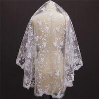 جديد وصول طبقة واحدة زهرة الدانتيل قصيرة الزفاف الحجاب wihtout مشط غطاء جميل الوجه الزفاف الحجاب nv7144