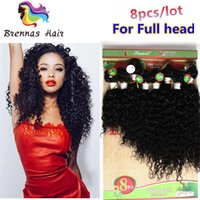 Blended brazilian human hair extension 8pcs per pack jerry c...