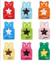 Kids pure cotton tank tops Boys beach Clothing Baby tank top...