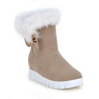 winter boots for women Flat- heel shoes Half short winter boo...