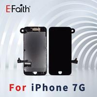 Qualidade superior para iphone 7 balck / display lcd branco com substituição da tela de toque digitador + câmera frontal frete grátis dhl