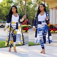 2018 Casual Women 2 Pieces Pants Sets V- neck Cloak + Legging...