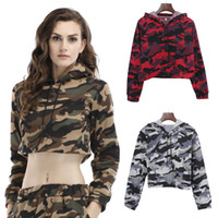 BOFUTE New Women' s Clothing Long Sleeve Camouflage Swea...