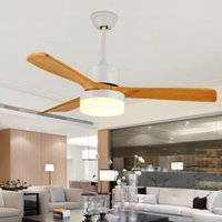 Soffitto Nuovo LED Fan Per Soggiorno 85-265V Legno fan soffitto con luci 42 pollici Blades ventola di raffreddamento remoto Fan Lamp