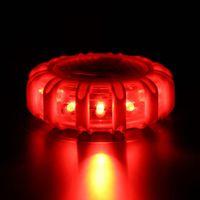 Mini 12 * LED évasement de sécurité d'urgence rouge aimant évasement de route clignotant avertissement de veilleuses feux de bord route balise