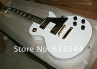 White Custom Shop Solid 6 Strings Mahogany Electric Guitar T...