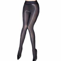 Sexy Oil Shiny Pantyhose Women Sheer Medias Smoothly Fabric Fany Medias Ver a través de Strumpfhose Gloss Collant