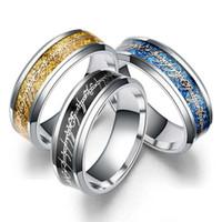 8mm 반지의 제왕 반지의 손가락 반지 반지 반지 스테인레스 스틸 반지 영감 보석 여성의 희망