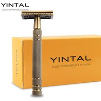 YINTAL Men' s Bronze Classic Double- sided Manual Razor L...