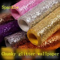 10 Meter erstklassige klobige Glittertapete, bling Tapete des Grades 3 für Hauptdekor, Qualität sparkly Tapete