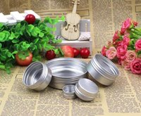 Barattolo di crema di alluminio vuoto Tin 5 10 15 30 50 100g Cosmetici Balsamo per le labbra contenitori Nail Artigianato Derocation Pot Bottiglia