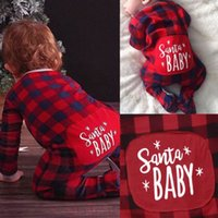 157338656ef New Arrival. Christmas Baby Boys Girl Xmas Gifts Red Plaid Romper Jumpsuit  Toddler ...