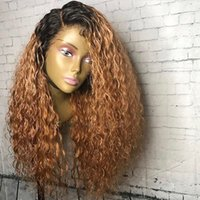 Fashion Honey Blonde Wigs 24 Inch Long Curly Wig Synthetic L...