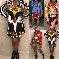Camicie lunghe estive casuali delle donne di estate delle maniche lunghe di Boho Hippie di stampa delle nuove donne di modo