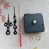 Groothandel 50 sets Sweep Silent 12mm Short Shaft Quartz Klokbewegingsmechanisme met metalen handen voor DIY-accessoires