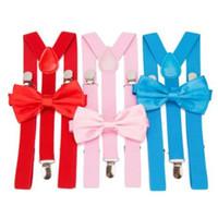 Bretelle Uomo Bow Tie Suspensorio per Uomo Donna Solid Bowtie Bretelle Pantaloni Tirantes Hombre Wedding Tempo libero Camicia Rosa Soggiorni