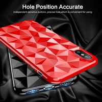Cas de Téléphone 3D Diamon Patroon Voor iPhone X Luxe Ultra Dunne Tpu Housses Pour iPhone 7 8 6 6 s Plus Shining Cover Capa
