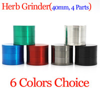 Quality Metal Zinc Alloy 4 Parts 40mm Dry Herb Grinder for T...