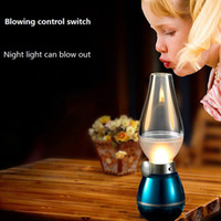 LED Night Light Blow On- Off Night Light Retro Lamp Lamps Nov...