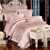 Grey Silver Silk Satin Bedding Set King Size Queen Quilt
