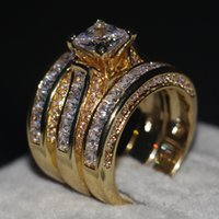 Promotion Women Men Jewelry 3- in- 1 Wedding ring 14KT Yellow ...