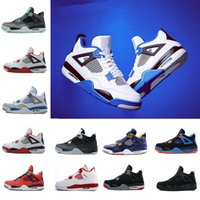 Cheap 4 4s Mens Basketball Shoes Motosports Blue Royalty Whi...