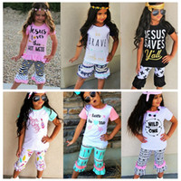 Girls Clothing Sets Tee Shirt Top and Ruffle Icing Pants Arr...