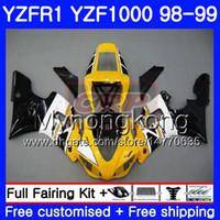 Carrozzeria per YAMAHA YZF R 1 YZF 1000 YZF1000 YZFR1 98 99 Telaio 235HM.6 YZF-1000 YZF-R1 98 99 Corpo giallo nero caldo YZF R1 1998 1999 Carenatura